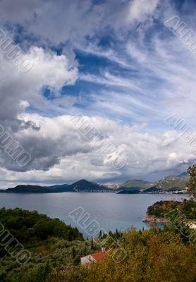 autemn on the mediterranean coast