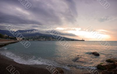 Sea landscape in Yalta