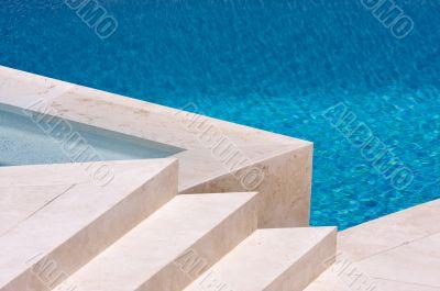 Custom Luxury Pool and Steps