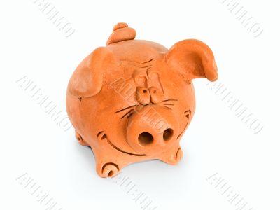 Clay funny piggie