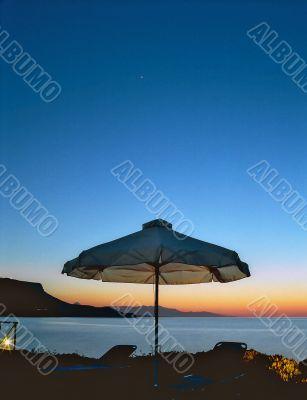 Picturesque twilight in Crete