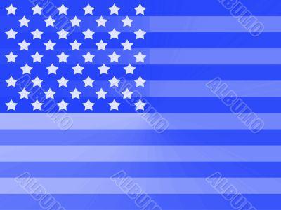 Blue American flag