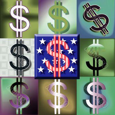 American Dollar sign