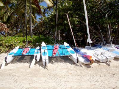 Beached Sailboats