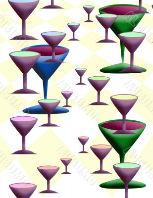 Wine glass wall paper