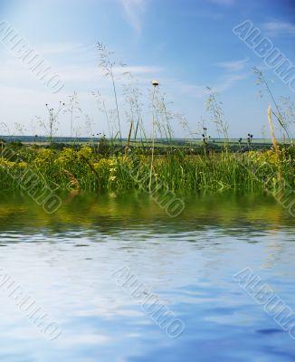 Reflection in a beautiful lake
