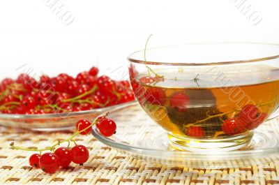 Red currant and herbal tea