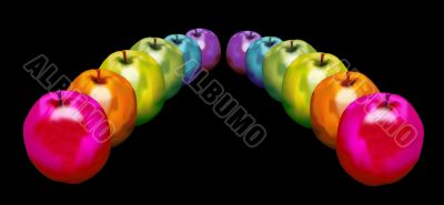 2 rows of Rainbow Apples