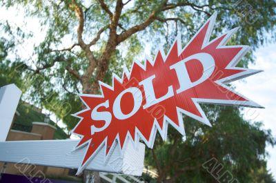 Sold Burst Sign