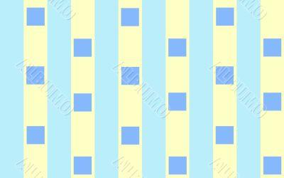 Blue squares on stripes