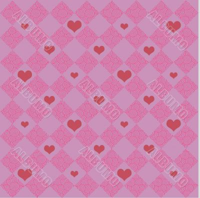 Pink Checkers & Hearts