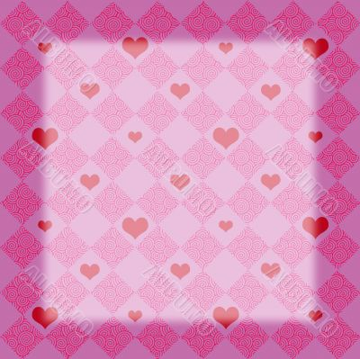 Pink Checkers & Hearts frame