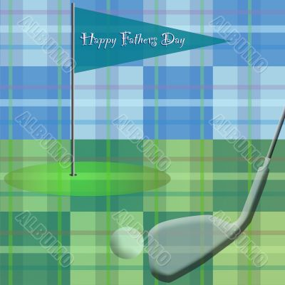 Golf on Plaid / Happy Fathers Day
