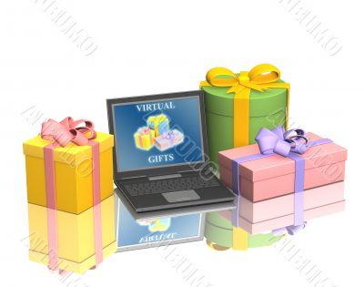 Conceptual image - virtual gifts