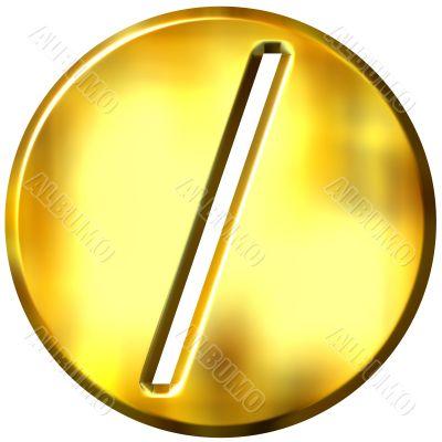 3D Golden Framed Division Symbol