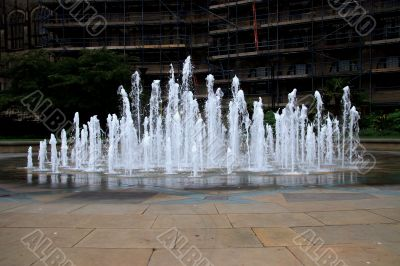 Water feature Peace Gardens Sheffield
