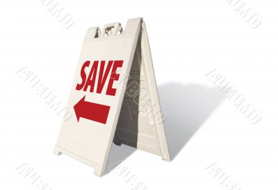 Save Tent Sign