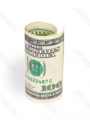 money on white background