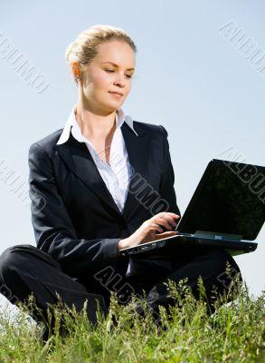 Businesswoman outdoor