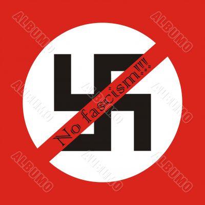 No fascism, sympol of peace