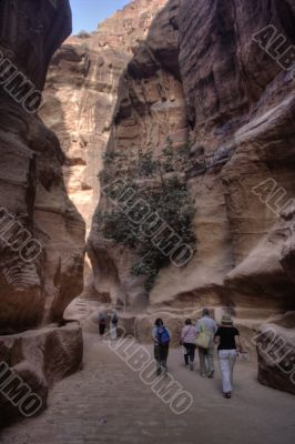Petra attraction in Jordan
