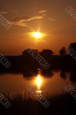 Years solar decline in area Okskogo of Reserve
