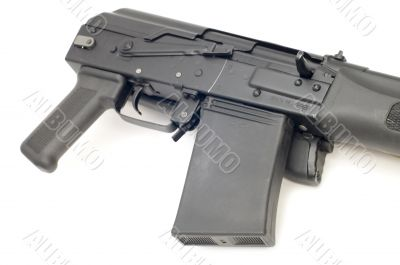 hunting rifle close up
