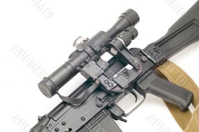 hunting rifle with optic