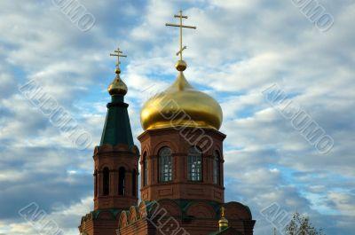 Orthodox temple in village ` Svetly Yar `. The Volgograd area. R