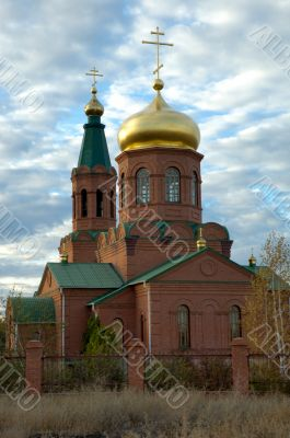 Orthodox temple in village ` Svetly Yar `. The Volgograd area. R