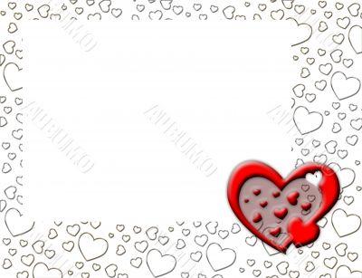 White heart shape border