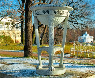 Classical tripod cap in winter park