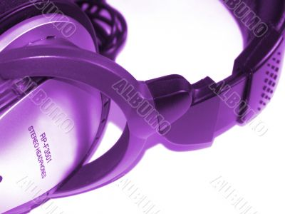 Headphones violet