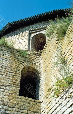 Embrasures of old fortress
