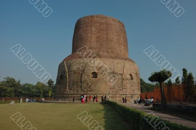 Ancient Dhamekh Stupa in Sarnath,India