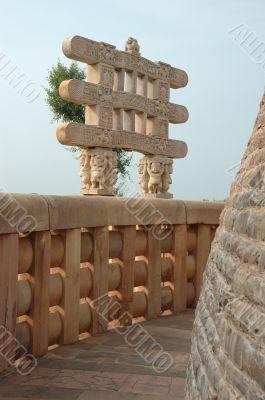Inside Great Stupa at Sanchi