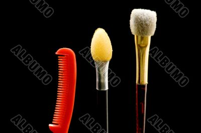 Set of brush with comb