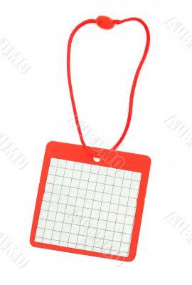 blank price tag