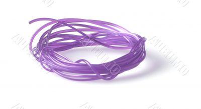 rolled up violet clothesline