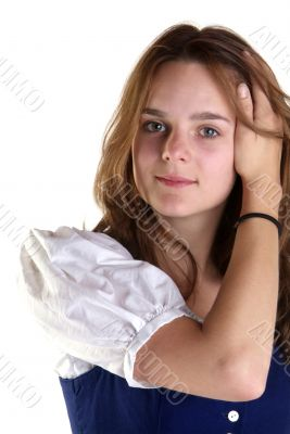 woman hand in hair