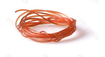 rolled up orange clothesline