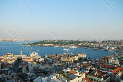 View to the Sultanahmet from Galata tower
