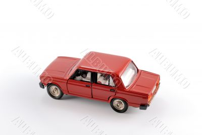 Collection scale model of the red car
