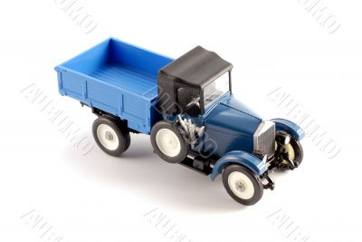 Collection scale model of the retro truck
