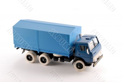 Collection scale model of the blue truck