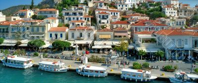 Town quay of Greek island