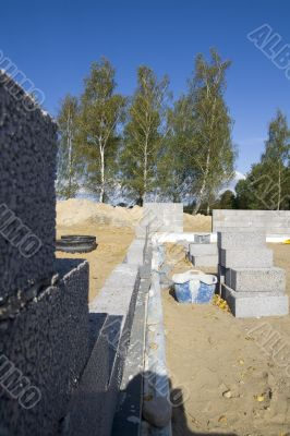 The base of the new house