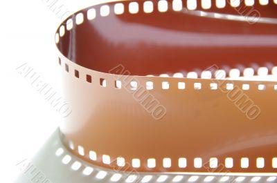 film roll braun macro shot