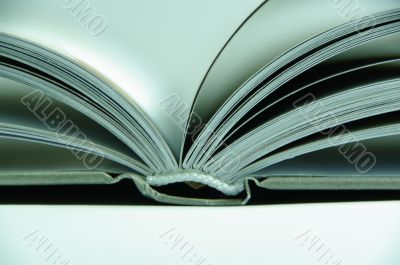 book open paper withe