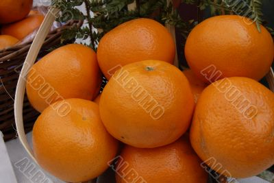 Orange Fruit Basket